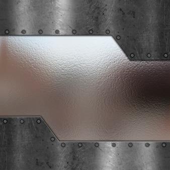 Fond métallisé avec chrome