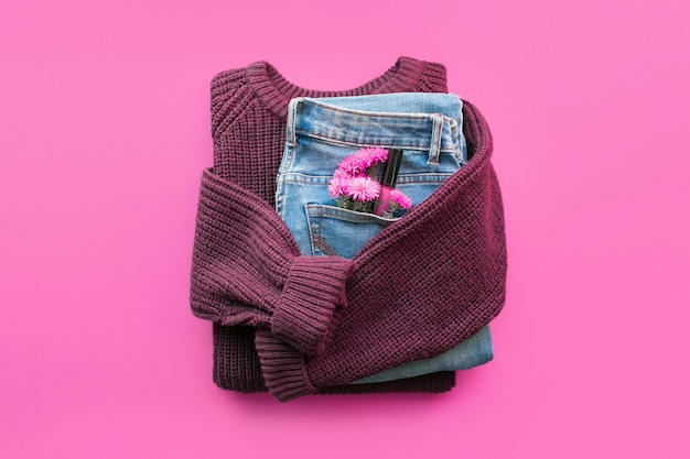 Fond minimal féminin moderne