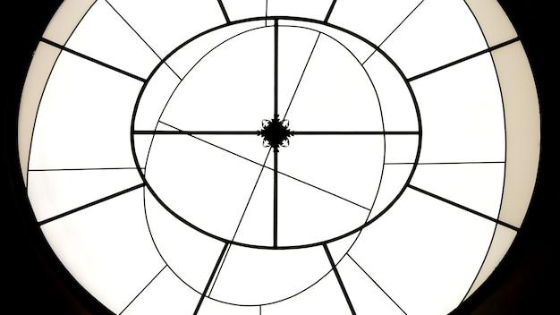 Fond minimaliste géométrique de forme ronde