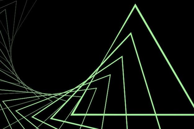 Fond minimaliste noir avec des triangles répétitifs fond perfectionniste tunnel abstrait
