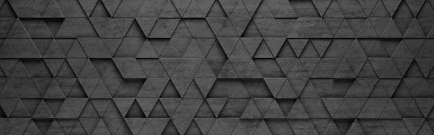 Fond de modèle 3d triangles noirs