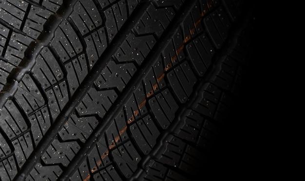 Fond de modèle de pneu de voiture gros plan