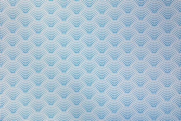 Fond de modèle sans couture vague bleu style japonais en pointillé