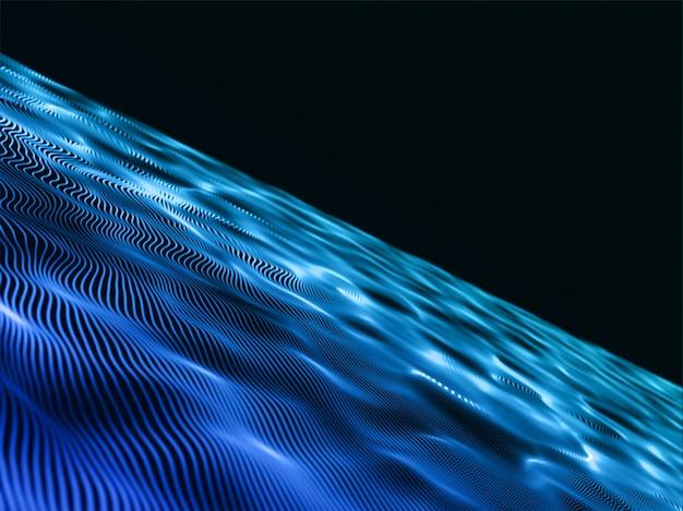 Fond moderne 3d avec un design de flux abstrait