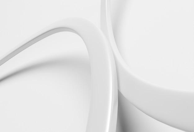 Fond moderne avec des lignes rondes blanches