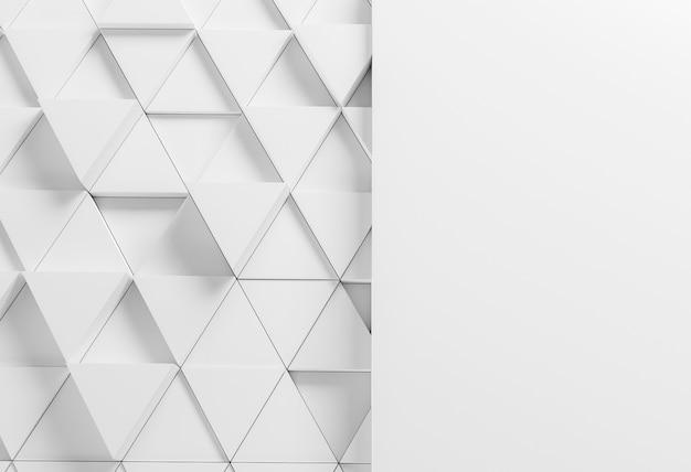 Fond moderne avec des triangles blancs