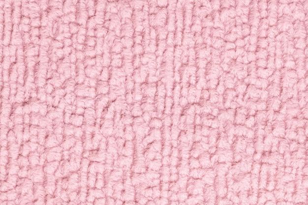 Fond moelleux rose en tissu doux et moelleux