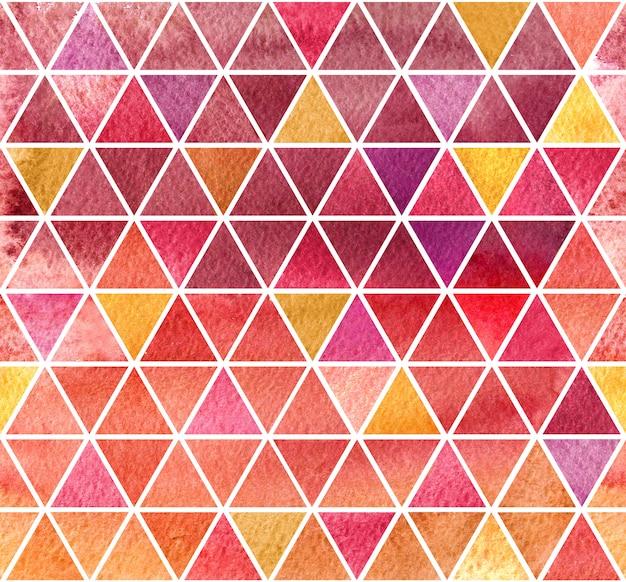Fond de mosaïque colorée aquarelle