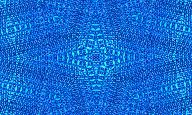 Fond de mosaïque polygonale blanc bleu, papier peint kaléidoscope. modèles de conception d'entreprise créative