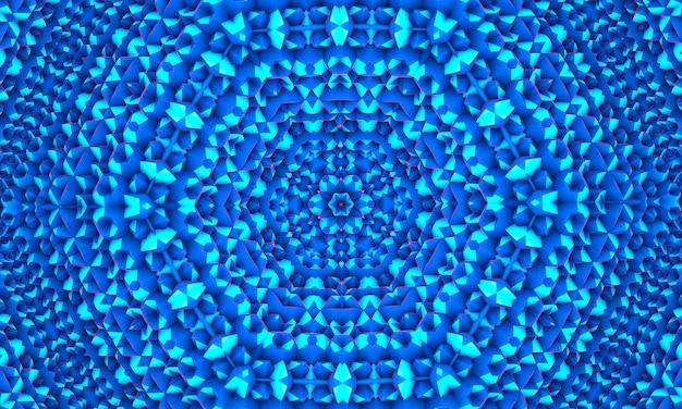 Fond de mosaïque polygonale blanc bleu, papier peint kaléidoscope. modèles de conception d'entreprise créative.