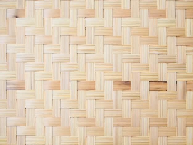 Fond avec motif de bambou tissé, vannerie traditionnelle en thaïlande.
