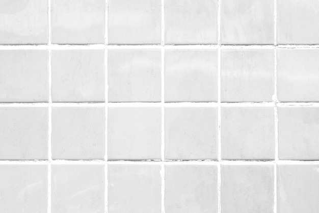 Fond à motifs de carreaux blancs