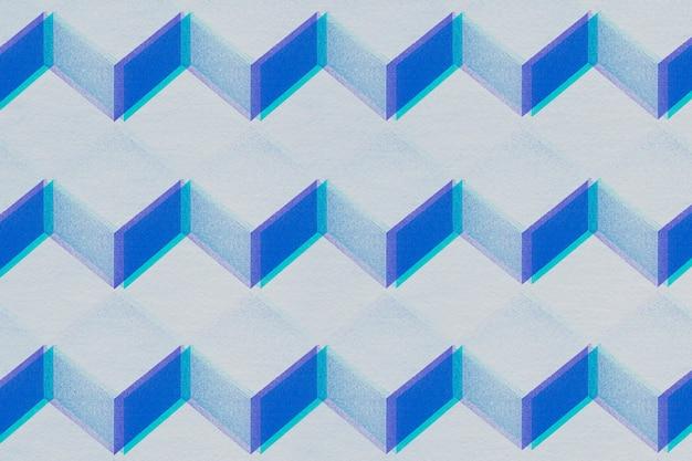 Fond à motifs cubiques d'artisanat en papier gris et bleu 3d