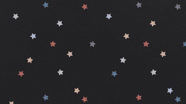 Fond à motifs d'étoiles colorées chatoyantes