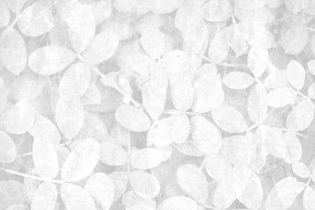 Fond à motifs de feuilles grises
