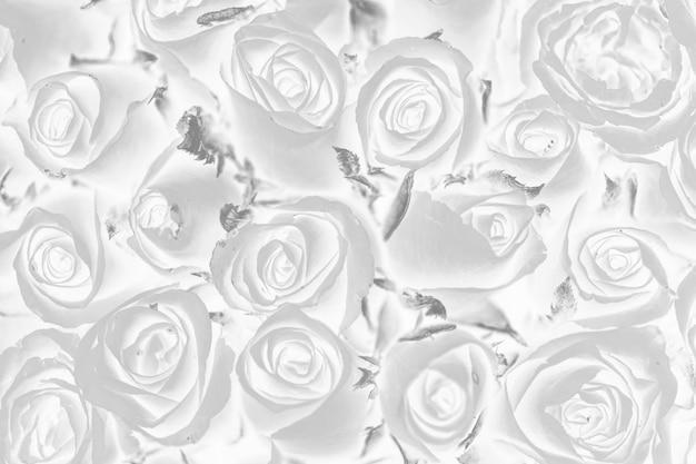 Fond à motifs floraux effet négatif