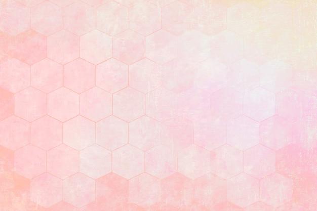 Fond à motifs hexagonaux rose