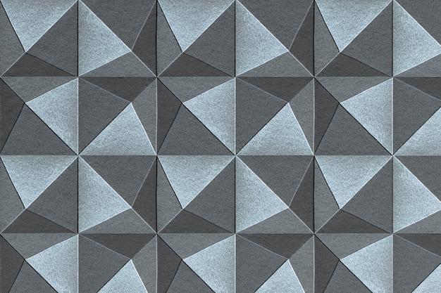 Fond à motifs de pentaèdre artisanal en papier bleu et gris 3d