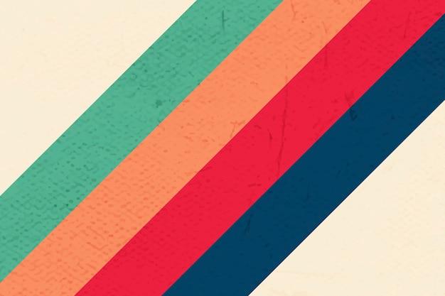 Fond à motifs de rayures de couleur audacieuse