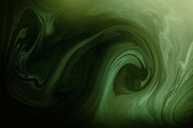 Fond à motifs tourbillon vert foncé
