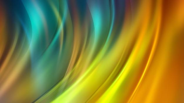 Fond multicolore clair avec des lignes ondulées flottantes