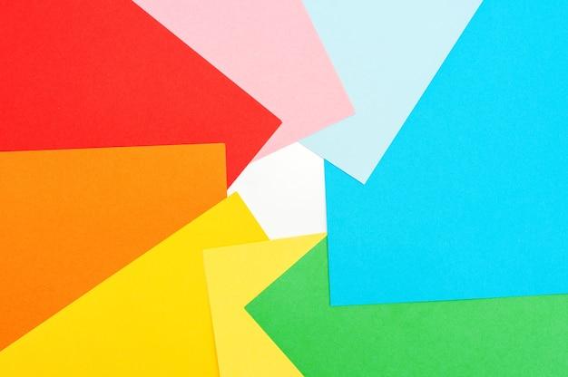Fond multicolore de papier de couleur