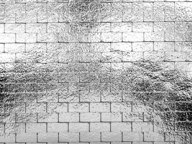 Fond de mur d'argent brillant rendu 3d