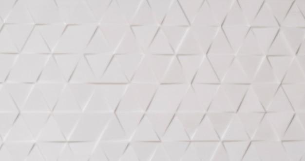 Fond de mur blanc avec diverses formes d'ornementation