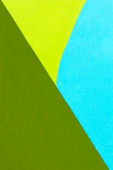 Fond de mur bleu et vert