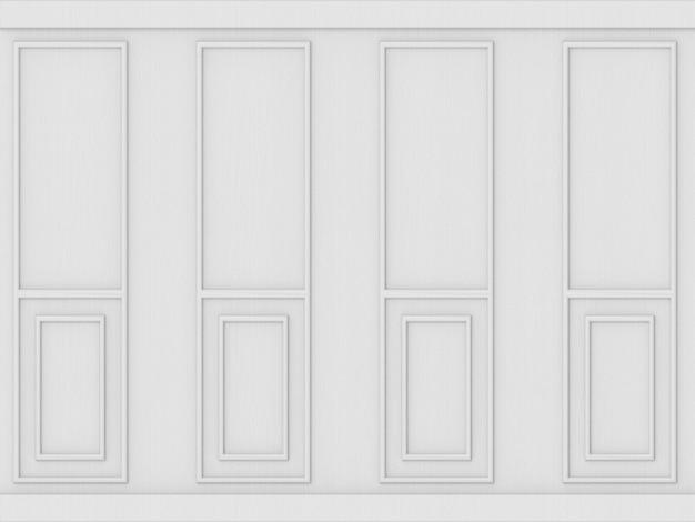 Fond de mur en bois modèle classique blanc de luxe