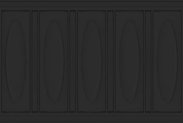 Fond de mur en bois modèle classique noir ovale de luxe