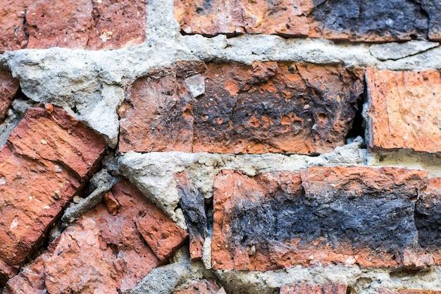 Fond de mur de brique ancienne.