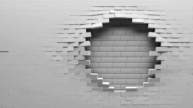 Fond de mur de brique cassé