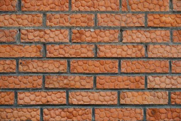 Fond de mur de brique couleur marron, bon et propre
