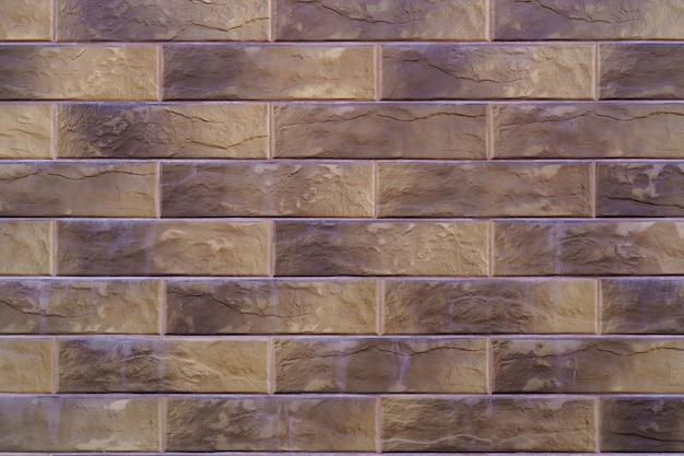 Fond de mur de brique marron. fond de mur de brique