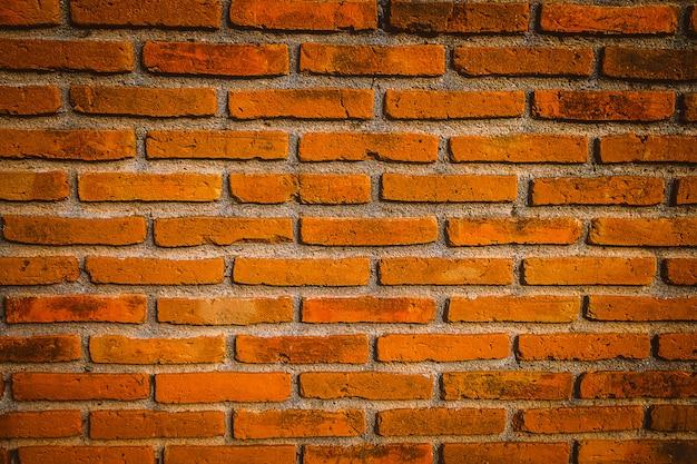 Fond de mur de brique orange