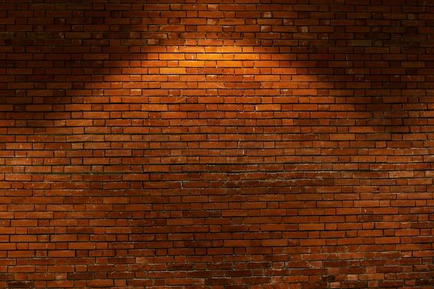 Fond de mur de brique rouge brun