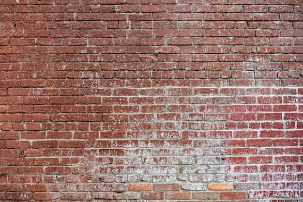 Fond de mur de brique rouge grunge