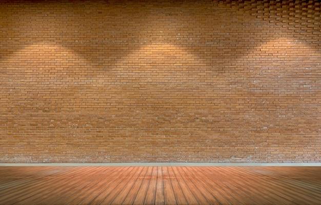 Fond de mur de brique rustique brun