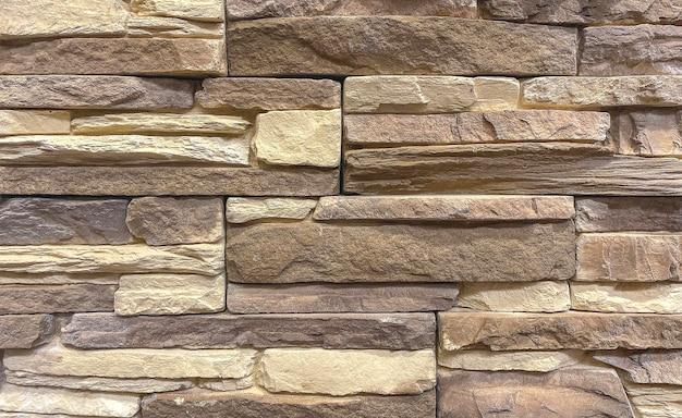 Fond de mur de briques anciennes brunes, couleur naturelle. détail du mur. fond, texture