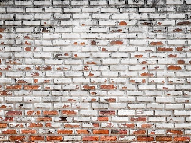 Fond de mur de briques blanches grunge