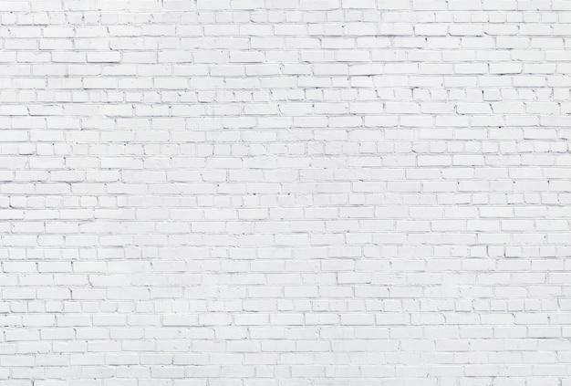 Fond de mur de briques blanches, texture de maçonnerie blanchie