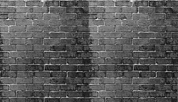Fond de mur de briques noires