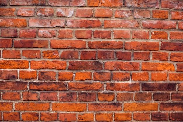 Fond de mur de briques vintage rouge surface du bâtiment ancien