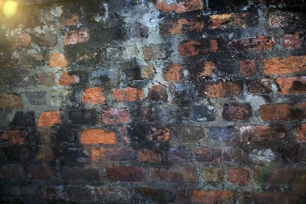 Un fond de mur de briques