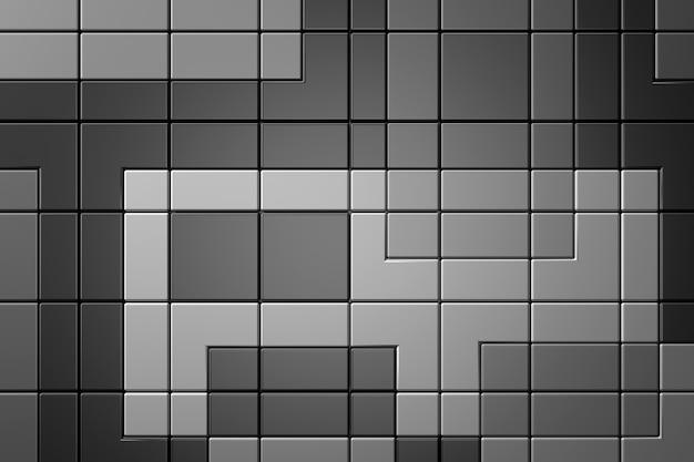 Fond de mur de carreaux moderne. rendu 3d.
