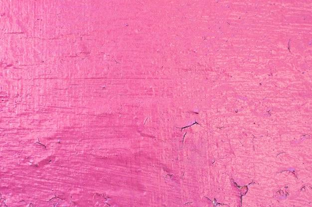 Fond de mur en ciment peint, couleur vive rose
