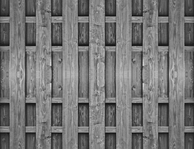 Fond de mur de clôture de panneau de bois naturel vertical noir.