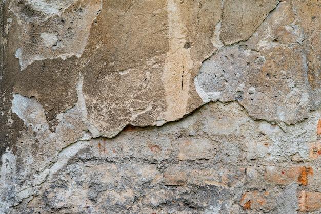 Fond de mur endommagé