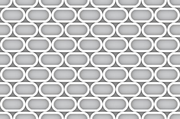 Fond de mur de forme ovale blanc moderne sans couture.